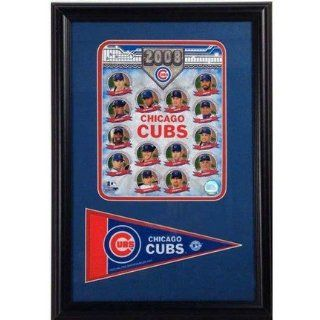 2008 Chicago Cubs Photograph with Team Pennant in a 12 x