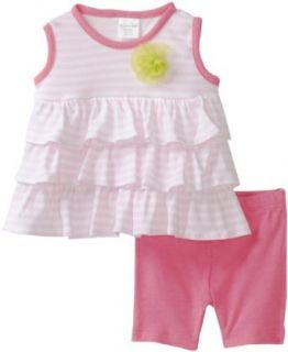 Cutie Pie Baby girls Infant 2 Piece Ruffle Shirt and