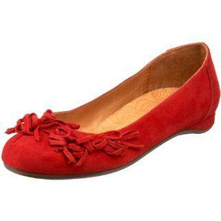 Mihara Womens Rinau Ballet Flat,Ante Rojo,36 EU / 6 B(M) US Shoes
