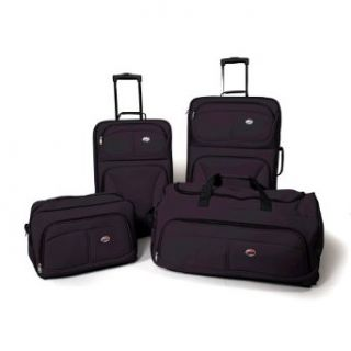 American Tourister Fieldbrook 4 Piece Luggage Set, Black