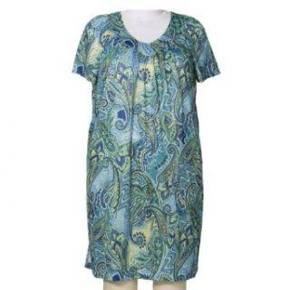 Black & Blue Floral Lounging Dress Womens Plus Size Dress