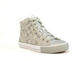 com Coach Franca High Top Fashion Sneaker (Silver/Silver, 10) Shoes