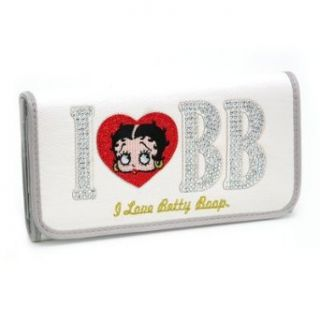 I Love Betty Boop Checkbook Wallet White Clothing