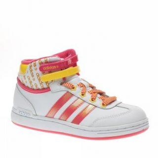 Adidas Trainers Shoes Kids Wj Mid K Leather White Shoes