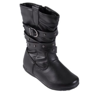 Collection Toddlers Buckle Detail Faux Leather Slouchy Boots Shoes