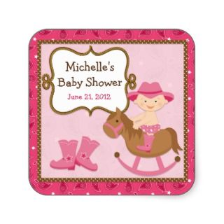 Cowgirl Baby Shower Sticker_sticker