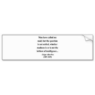 Edgar Allen Poe Quote 9a Bumper Sticker
