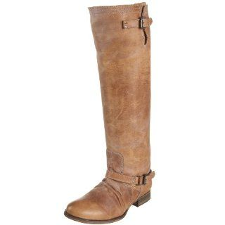 Steve Madden Womens Roady Knee High Boot,Brown Leather,5 M US Shoes