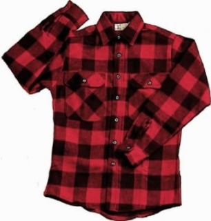 EXTRA HEAVYWEIGHT BRAWNY FLANNEL SHIRT   RED/BLACK LARGE