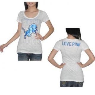 Pink Victorias Secret Womens NFL Detroit Lions T Shirt