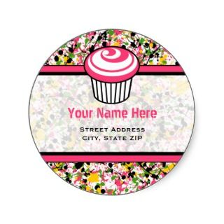 Address Label   Multicolor Paint Splatter Stickers