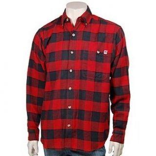 Farmall Flannel Shirt L/S Red/Black 2X Tall Clothing