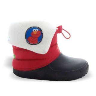 ELMO Toddler Red Cold Weather Pull On Snow Boots   Size 9 Shoes