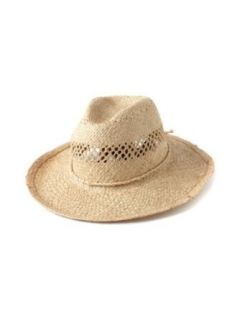 Mar Y Sol Womens Inez Woven Wide Brimmed Fedora   Natural