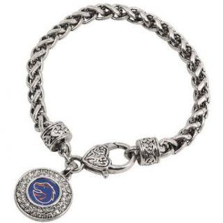 NCAA Boise State Broncos Ladies Heart Clasp Bracelet