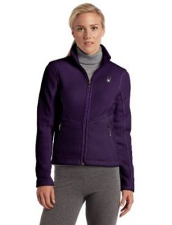 Spyder Womens Full Zip Mid Weight Sweater, Rich Purple, X