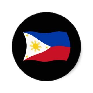 philippines flag sicker his wavy flag of he philippines sicker is