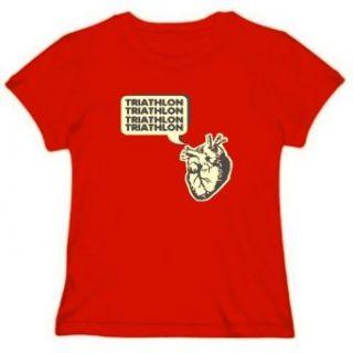 Triathlon Heart Womens T shirt Clothing