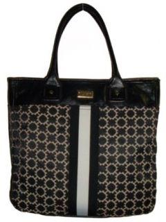 Womens Tommy Hilfiger Large Tote Handbag (Black/White