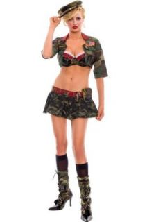 Womens MED/LG (8 12)  Sexy Military Girl Costume: Clothing