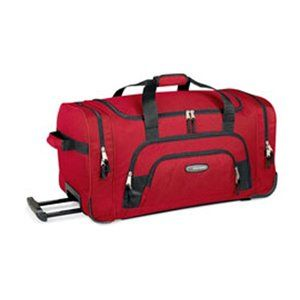 High Sierra 30 Inch Wheeled Duffel (Red) Clothing