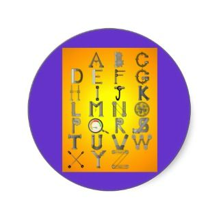 Alphabet Letters Stickers, Alphabet Letters Sticker Designs
