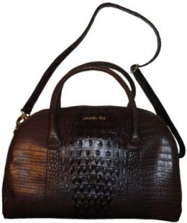 Womens London Fog Purse Handbag Monarch Satchel Brown
