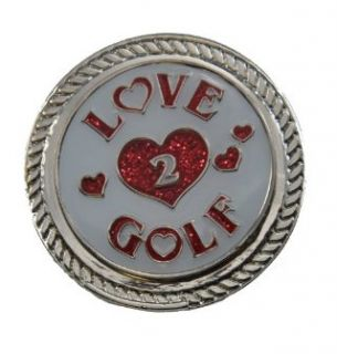 Golf Glitzy Ball Marker with Round Shoe Ornament: Sports & Outdoors