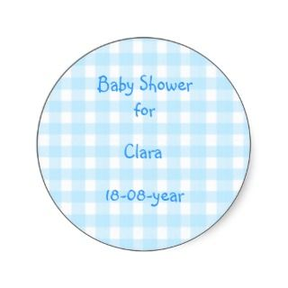 Baby Shower sticker checks