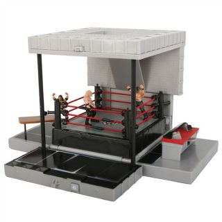 WWE Ring de catch convertible en cage + 4 figurine   Achat / Vente