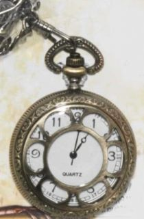 F66176 Prop Steam Punk Open Face Pocket Watch Clothing