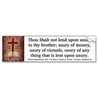 Deuteronomy 23:19 Holy Bible King James Version Bumper Stickers