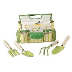 Disney Earth Day Mickey Mouse Garden Tool Set & Bag for