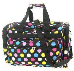 Fun Multi Polkadots Duffle Dance Cheer Gym Travel Bag 19