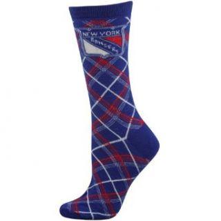 NHL New York Rangers Ladies Argyle Socks   Royal Blue