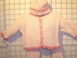 Cpk7, Knitted on Hand Knitting Machine Baby Pink Chenille