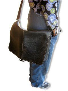 Recycled Rubber Tire Flap Purse, Messenger or Computer Bag Shoes