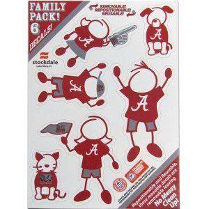 Alabama Crimson Tide Small Family Car Decal Sheet Sports