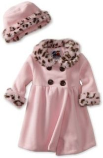 Good Lad Baby Girls Infant Animal Trim Coat, Pink, 12
