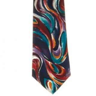 Towncraft Mens Patterned Polyester Neck Tie Navy One Size