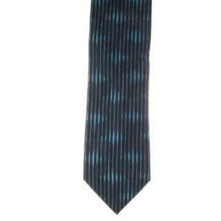 Van Heusen Mens Stripes 100% Silk Neck Tie Black One Size
