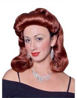 Auburn 40s Pinup Girl Halloween Costume Wig Clothing