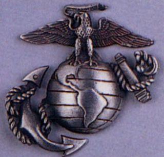 Pewter USMC Marine Corps Logo Insignia Pin Clothing