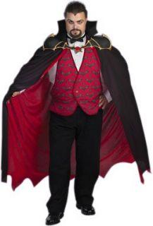 Adult Mens Plus Size Vampire Costume XXL Clothing