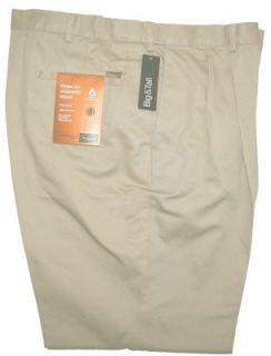 HAGGAR Flex Waist PLEATED Front Pants   Black or Khaki