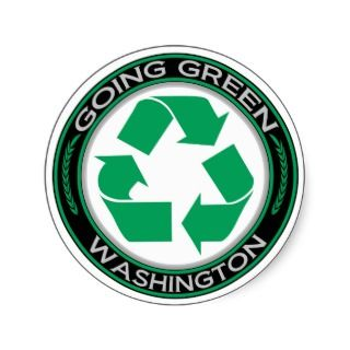Going Green Recycle Washington Sticker