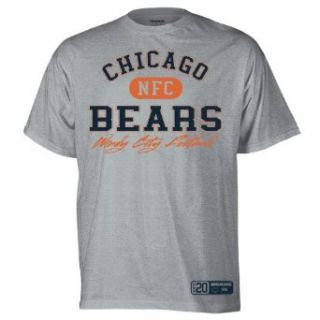 NFL Mens Chicago Bears Classic Slogan Tee (Grey, Small