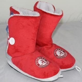 Crimson Tide Womens Team Color Button Boot Slippers   XL Shoes