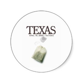 Victoria Texas Tea Party Round Sticker
