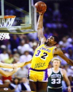 Magic Johnson Autographed Picture   16x20 PSA DNA